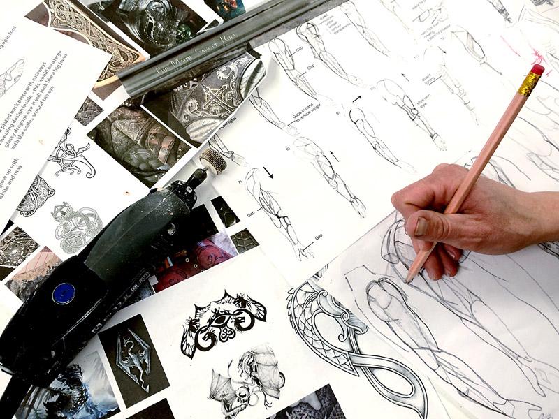 sketches, design, prosthetics